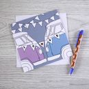 Campervan Greetings Card 'Love'