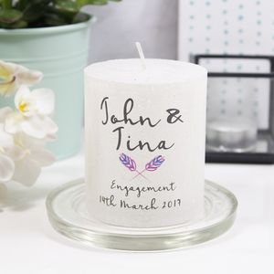 Personalised Engagement Motif Metallic Candle