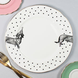 'Party Pup' Dinner Plate - tableware