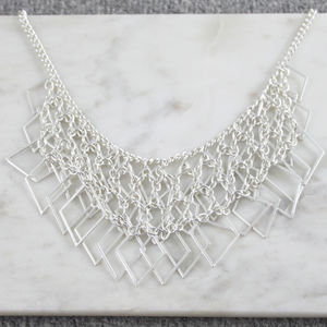 Diamond Chain Statement Necklace