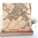 New Home Postcode Map Print On Wood