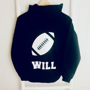 Boys Personalised Activity Hoodie Rugby, Football, Golf