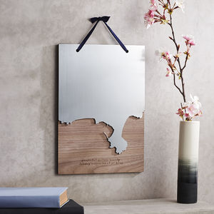 Coastline Wooden And Acrylic Wall Hanging - maps & locations