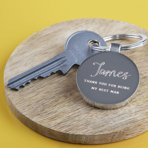 Thank You For Being My Best Man Keyring - accessories gifts for ushers