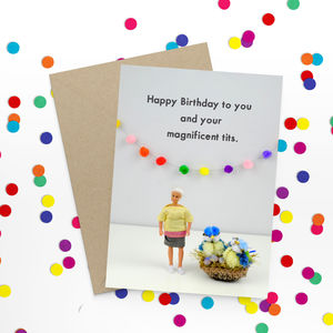 Tits Rude Birthday Card