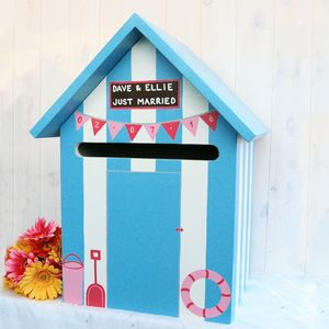 Beach Hut Wooden Wedding Post Box - wedding post boxes