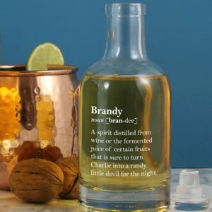 Witty Personalised Brandy Definition Bottle
