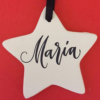 Modern Calligraphy Star Decoration