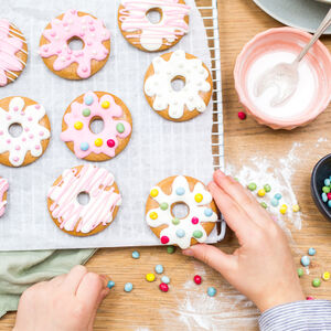 Personalised Doughnut Biscuit Bake And Craft Kit