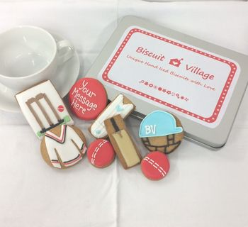 Personalised Cricket Biscuit Tin