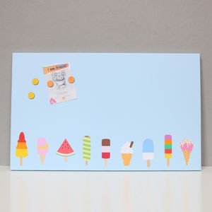 Ice Cream Magnetic Noticeboard