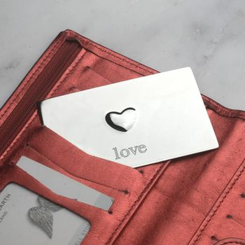Personalised Love Heart Secret Message Wallet Card
