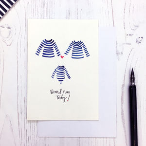 Breton Design Baby Makes Three Card