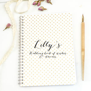 Personalised Wedding Planning Notebook 'Bella'