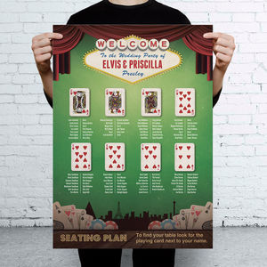 Las Vegas Casino Themed Wedding Seating Table Plan - wedding stationery