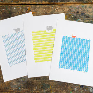 Three X A3 Size Unframed Print Bundle Save 25%