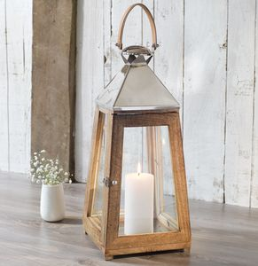 Wooden Candle Lantern - outdoor lights