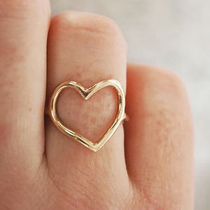 My Heart Is Open Gold Ring - gifts for her