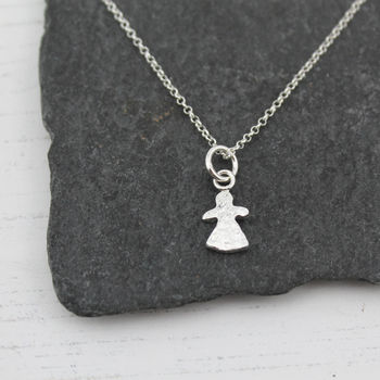 Silver Personalised Little People Charm Necklace