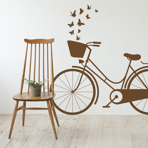 Vintage Dutch Bike Wall Sticker - home accessories
