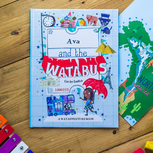 Personalised Children's Book Adventure Story And Map