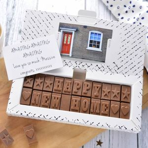 Chocolate New Home Card - personalised