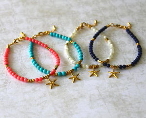 Children's Starfish Charm Bracelet