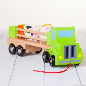 Childrens Personalised Wooden Farm Truck - cars & trains