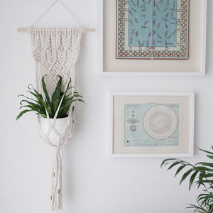 Diamond Macrame Plant Holder - decorative accessories