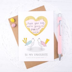 Personalised Anniversary Scratch Card - valentine's cards