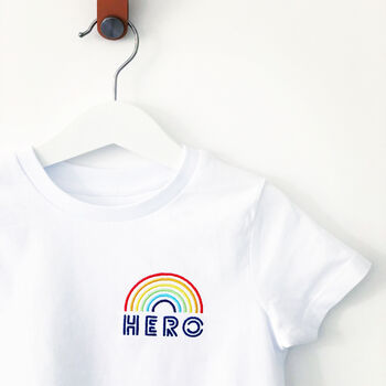 Hero Embroidered Organic Charity T Shirt