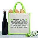 'Mum Bag' Jute Shopping Tote
