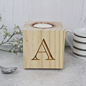 Letter And Number Candle Block - table decorations