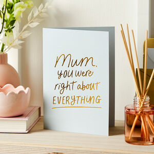 Honest Mother's Day Foil Embossed Card