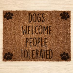 Personalised Paw Prints Doormat - rugs & doormats