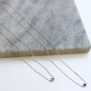 Sterling Silver Swarovski Crystal Necklace
