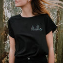 Embroidered Cactus Organic Cotton T Shirt