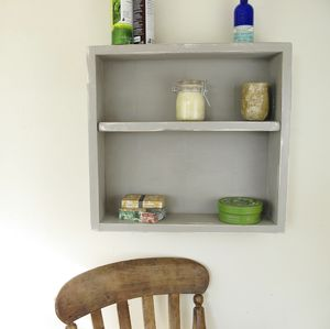 Vintage Wooden Painted Bathroom Wall Unit