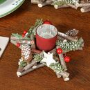 Country Christmas Star Candle Holder