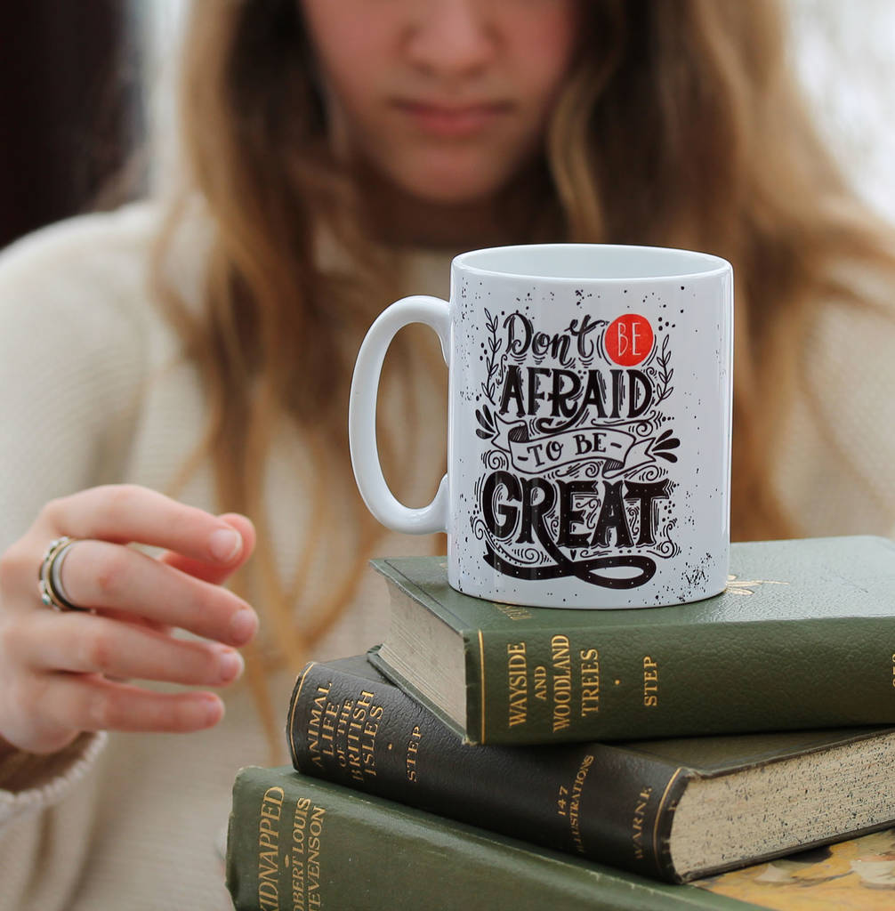 motivational printed mug greatness gift for students by hearth