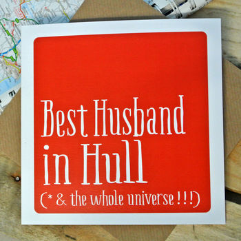 Personalised 'Best' Husband Boyfriend Fiancé Card