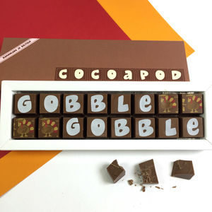 Personalised Thanksgiving Chocolate Box - chocolates & confectionery
