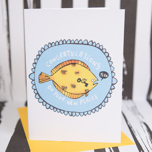'Congratulations On Your New Plaice' New Home Card