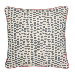 Piped Linen Cushion 'Drookit'