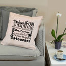 Personalised Teacher Gift Thank You Cushion
