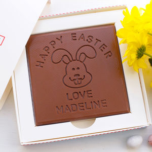 Personalised Happy Easter 'Bunny' Chocolate Card - easter chocolate
