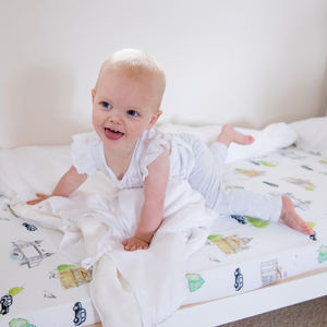 London Crib Sheets - cot bedding
