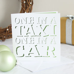 One In A Taxi Christmas Card
