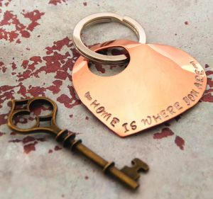 'Home Is Where You Are' Handmade Keyring Gift