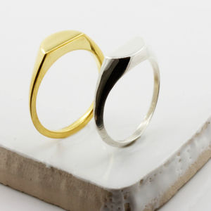 Half Circle Signet Ring Gold/Silver